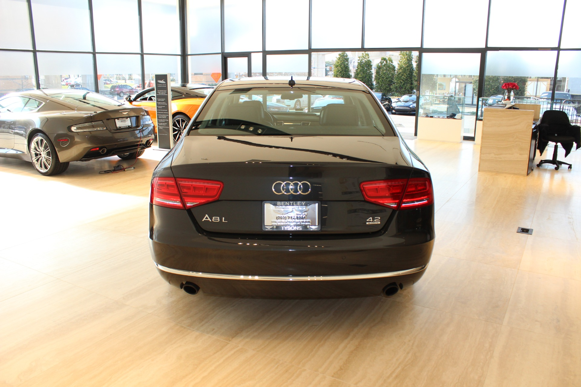 2011 audi a8 l quattro stock 7nc016052d for sale near vienna va va audi dealer for sale in. Black Bedroom Furniture Sets. Home Design Ideas